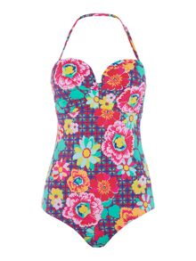 Lepel Sun kiss moulded bandeau swimsuit