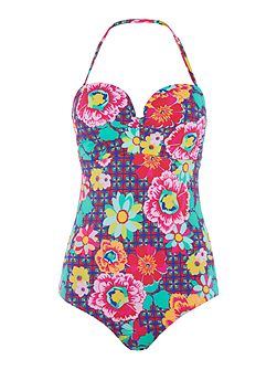 Sun kiss moulded bandeau swimsuit