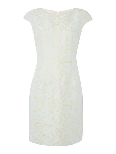 Linea Olivia stretch jacquard dress