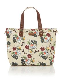 Ollie & Nic Rio multi coloured trapeze tote bag