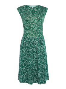 Dickins & Jones Floral Print Tie Detail Dress