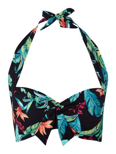 Seafolly Jungle out there soft cup halter bikini top