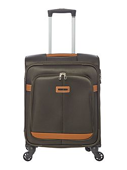 Caphir olive 4 wheel soft cabin suitcase