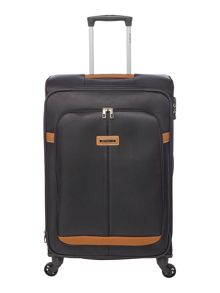 Samsonite Caphir black 4 wheel soft medium suitcase