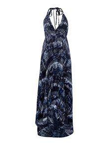 Label Lab Printed tie dye tassel sundress