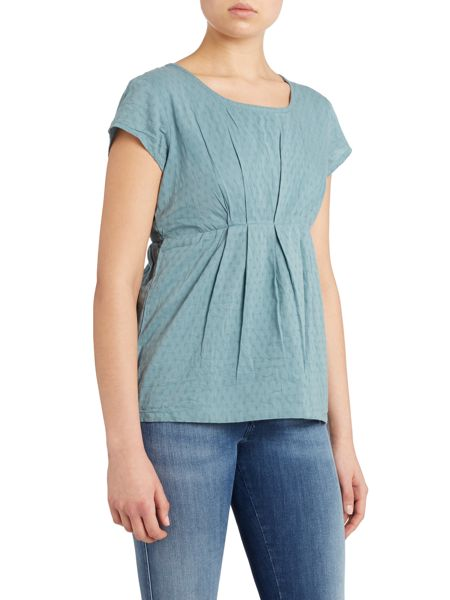 LILY & ME Pintuck short sleeved top