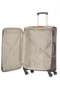 Samsonite Caphir walnut 4 wheel soft medium suitcase