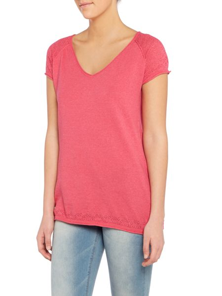 LILY & ME Knitted short sleeve top