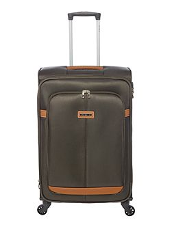 Caphir olive 4 wheel soft medium suitcase