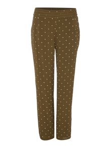 Biba Embroidered viscose slouch trouser