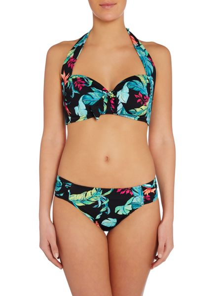 Seafolly Jungle out there ruched side retro brief