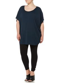 Label Lab Plus size oversized jersey cocoon top