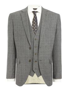 Corsivo Atillio Italian Wool Check Suit Jacket