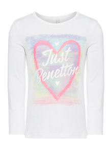 Girls Glitter logo graphic top