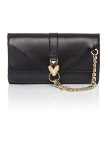 Just Cavalli Black wristlet clutch bag