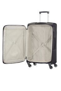 Samsonite Auva black 4 wheel soft medium spinner suitcase