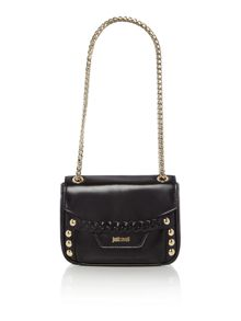 Just Cavalli Black chain detail shoulder bag