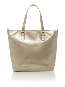 Just Cavalli Gold leather tote bag