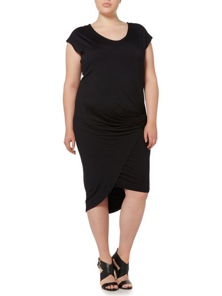 Label Lab Plus size layla double layer jersey dress