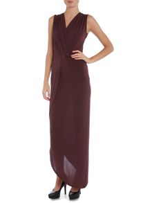 Wal-G Sleeveless V Neck Side Split Maxi Dress