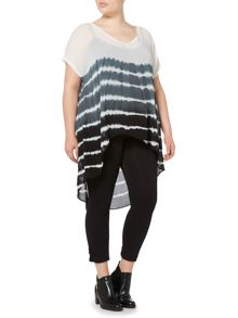 Label Lab Plus size stripe tie dye blouse