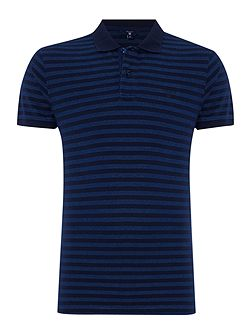 Oxford Stripe Pique Polo