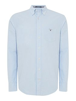 Regular Fit Solid Oxford Shirt