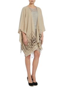 Fraas Houndstooth poncho