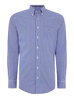 Poplin Gingham Long Sleeve Shirt