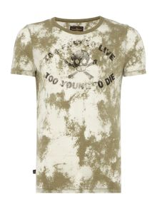 Vivienne Westwood Regular fit skull print acid wash t shirt