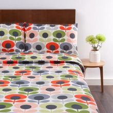 Orla Kiely Multi Flower Oval Tomato Pillowcase Pair
