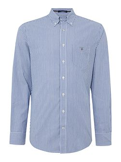 Poplin Banker Stripe Long Sleeve Shirt