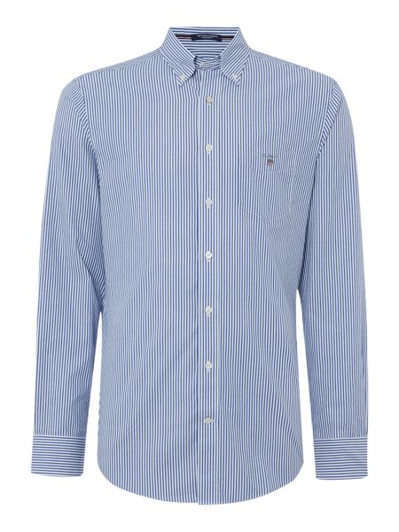 Gant Poplin Banker Stripe Long Sleeve Shirt