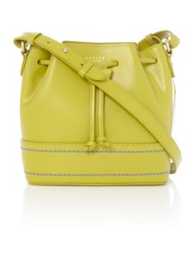 Radley Curtain road green small drawstring cross body bag