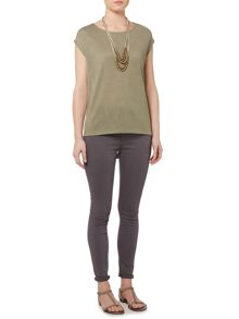 Gray & Willow Daphna twist top blouse