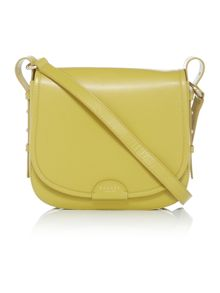 Radley Spitalfields green medium flapover cross body bag