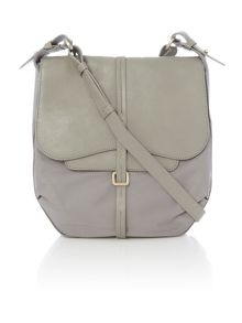 Radley Grosvenor nylon grey medium flap over cross body