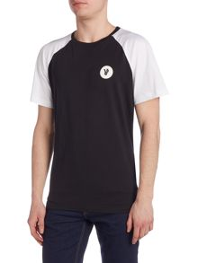Versace Jeans Regular fit contrast sleeve logo t shirt