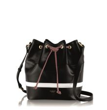 Jonathan saunders black medium cross body bag