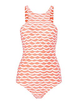 tidal wave high neck swimsuit