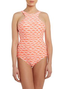 Seafolly tidal wave high neck swimsuit