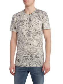 Versace Jeans Regular fit all over versace print t shirt