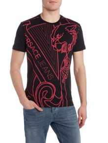 Versace Jeans Regular fit enlarged logo printed t shirt