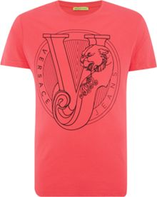 Versace Jeans Regular fit circular printed logo t shirt