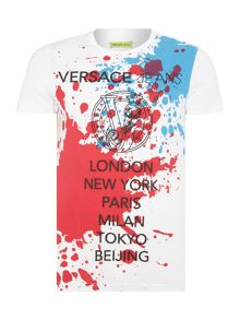 Versace Jeans Slim fit paint splatter print t shirt