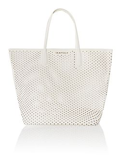 Double dot tote beach bag