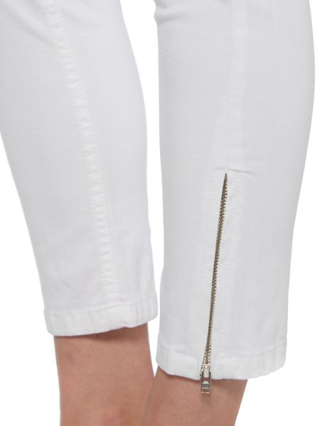 Pied a Terre Skinny white twill jeans