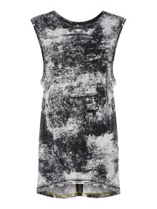 Label Lab Textured printed sleeveless top