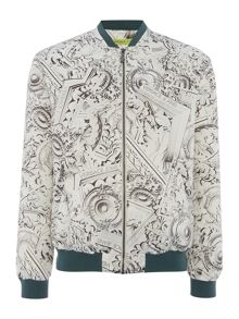Versace Jeans All over versace printed bomber jacket