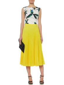 Linea Pleated midi skirt
